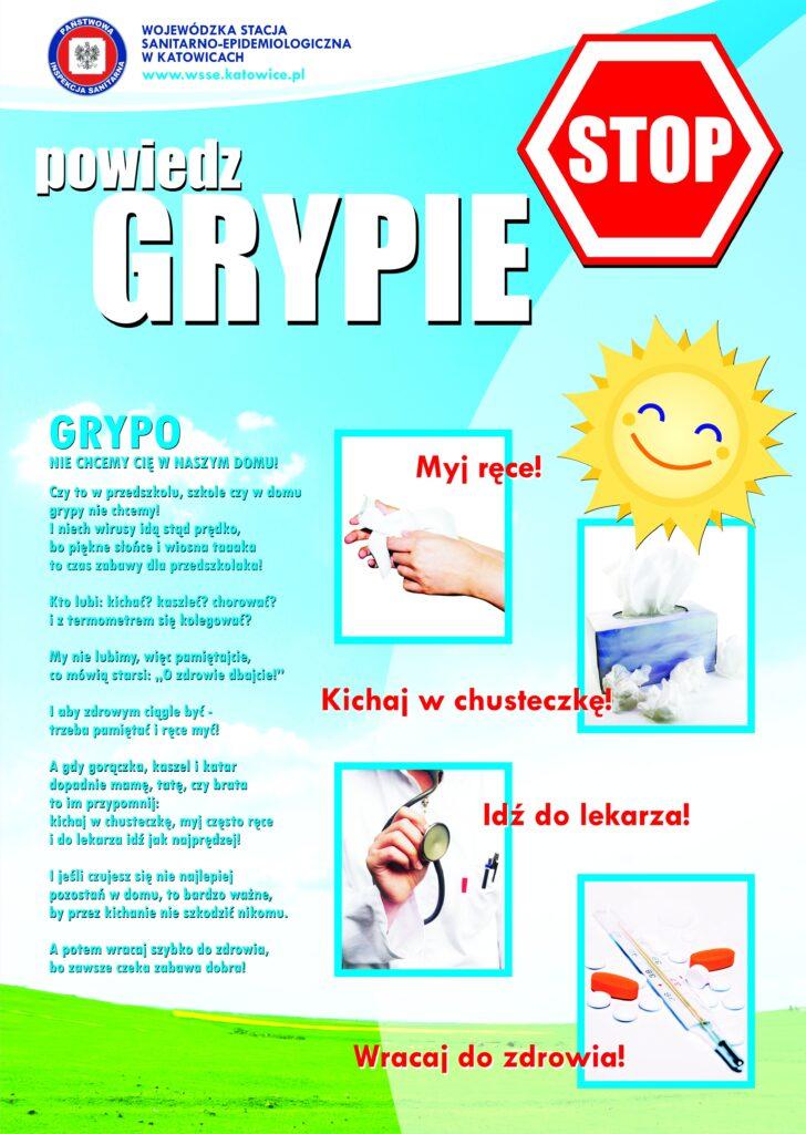 Plakat dotyczący grypy